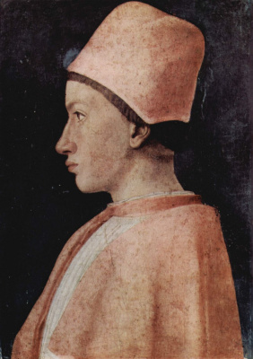 Andrea Mantegna. Portrait of a Prelate of the house of Gonzaga
