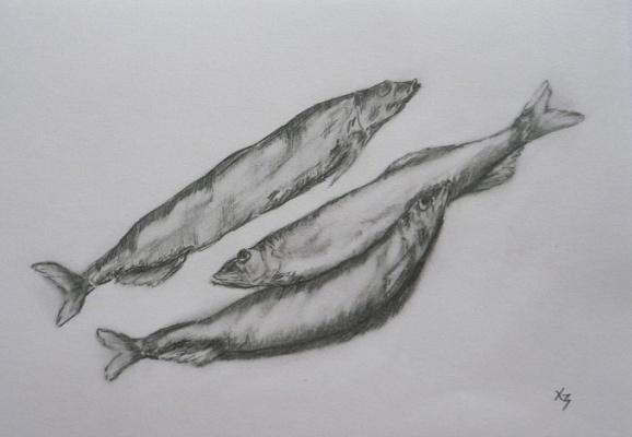 Сергей Николаевич Ходоренко-Затонский. Three fish