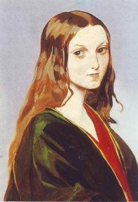 Григорий Григорьевич Гагарин. «Портрет девушки-грузинки». 1840-е