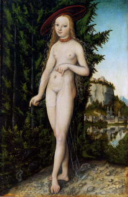 Lucas Cranach the Elder. Venus in a landscape