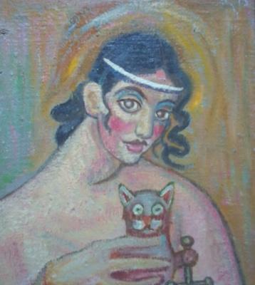 Вячеслав Коренев. The lady with the cat