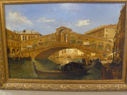 """A.Porte. Венеция .""""Вид моста Rialto"""""""