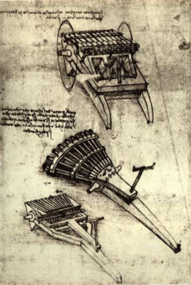 Leonardo da Vinci. Multi-barrel weapons