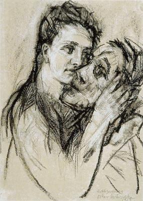 Oskar Kokoschka. Lovers. Alma Mahler and Oskar Kokoshka
