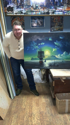 Sergey Vasilievich Chufarin. Copy restoration portrait from life