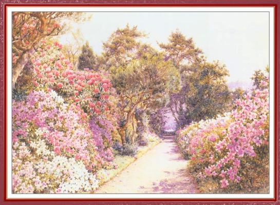 Эрнест Артур Роу. В саду