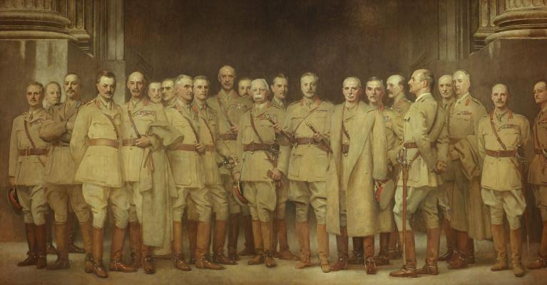Джон Сингер Сарджент. Общий портрет офицеров Первой мировой войны