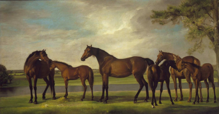 George Stubbs. The horse, fearing the coming storm