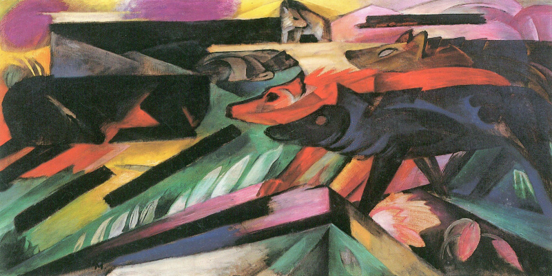 Franz Marc. The wolves (Balkan war)