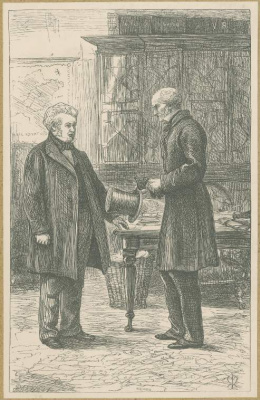 John Everett Millais. Sir peregrine in the office of Mr. Round. Illustration for the works of Anthony Trollope