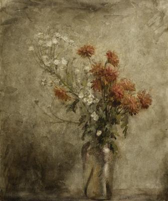 Arthur Rackham. Chrysanthemum and daisies