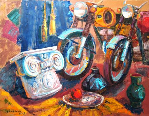 Дария Захарова. Натюрморт с атрибутами искусства