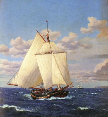 Christopher Wilhelm Eckersberg. Yachts