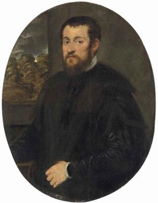 Джакомо Пальма Младший. Портрет мужчины с бородой и в черном плаще