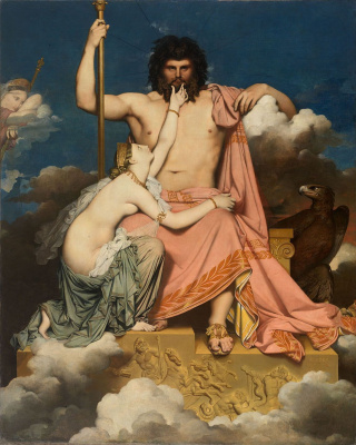 Jean Auguste Dominique Ingres. Zeus and Thetis
