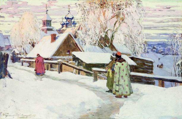 Ivan Goryushkin-Sorokopudov. The past. 1910 tempera. 47 x 76 cm