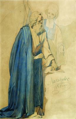 Иван Кузьмич Макаров. Евангелист Иоанн. 1850 Этюд