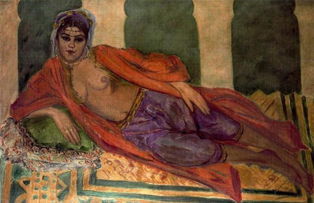Франциско Итуррино. Лежащая девушка