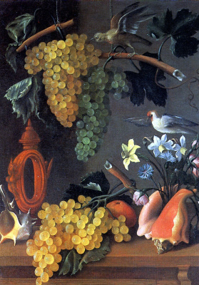 Juan De Espinosa. Still life with grapes