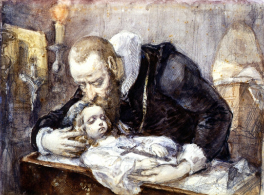 Jan Matejko. Jan Kochanowski over the body of his daughter Ursula. Sketch