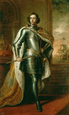 Godfrey Neller. Portrait of Peter I