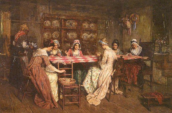 Генри Мослер. Женщины за столом
