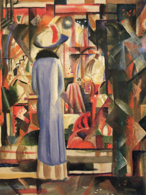 August Macke. Large lighted showcase