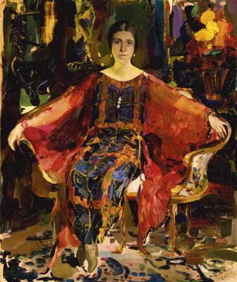 Philip Andreevich Malyavin. Portrait of the ballerina Alexandra Balashova