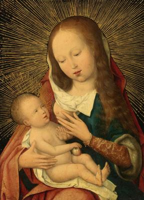 Неизвестный нидерландский мастер. Мадонна с Младенцем.  Окодо 1490