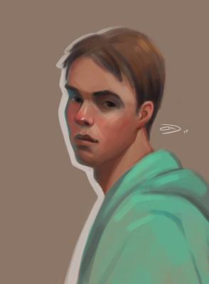 Alexander Dmitrievich Svistunov. Self-portrait