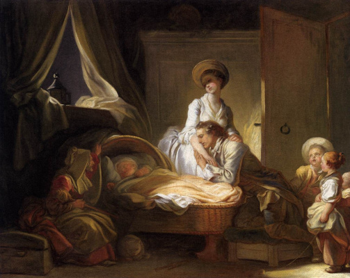 Jean Honore Fragonard. A visit to the nurse