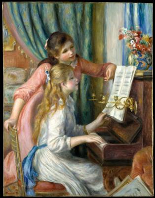 Пьер Огюст Ренуар. Две девушки у фортепьяно
