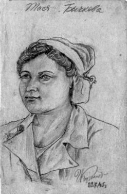Nurse Tasya Bychkova. Front-line hospital.