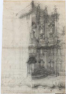 """Francesco Borromini. Rome, the Oratory of St. Philip Neri, facade, revised version for publication """"Opus Architectonicum"""""""