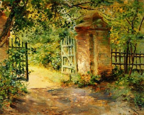 Constantin Somov. Gate in the estate Sekirino