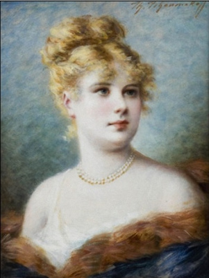 Fedor Petrovich Chumakov. Female portrait.