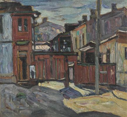 Абрам Аншелевич Маневич. Winter. Yard on Sovskova street in Kiev