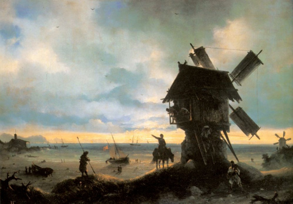 Ivan Aivazovsky. Windmill on the seashore