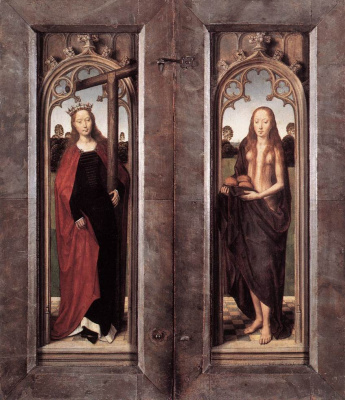 Hans Memling. Triptych Adrian Raines. The outer side flaps