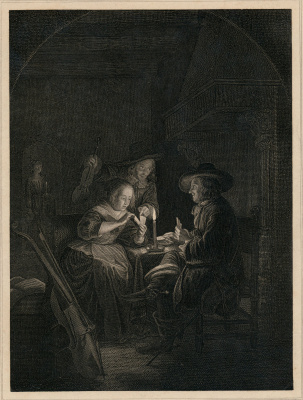 Gerrit (Gerard) Dow. The card players by candlelight
