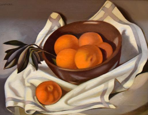 Тамара Лемпицка. Натюрморт с мандаринами