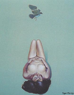 Рамос. Обнаженная девушка и птица