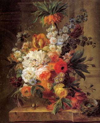 Ван Лин. Цветочный натюрморт