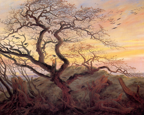 Caspar David Friedrich. Tree with crows