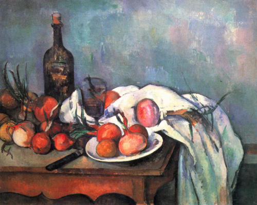 Paul Cezanne. Still life with onions