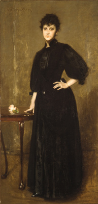 William Merritt Chase. The woman in black