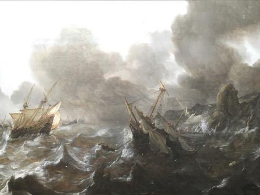 Ian Porcellis. The ship crashed on the rocks