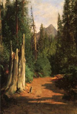 Томас Хилл. Кролики в лесу