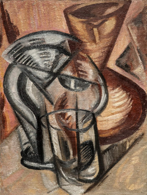 Olga Vladimirovna Rozanova. Ceramic vase and glass vessels