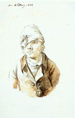 Caspar David Friedrich. Self-portrait with a tied head